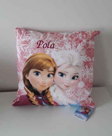 Poduszka personalizowana KRAINA LODU 40/40 cm, bawełna, prezent
