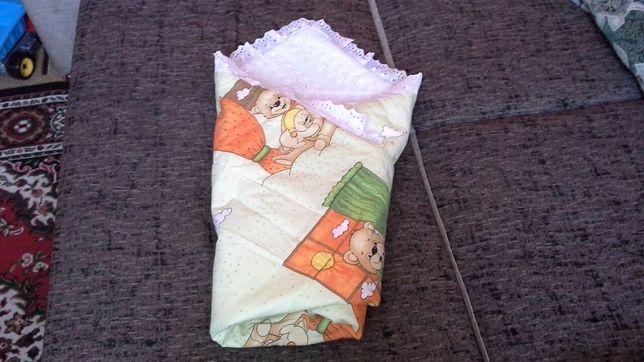 Конверт на выписку,одеялко