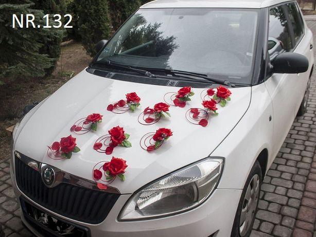 Dekoracja - ozdoba na samochód nr. 132 PIĘKNA CZERWONA