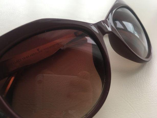 Okulary Versace bordowe org Uszkodzone