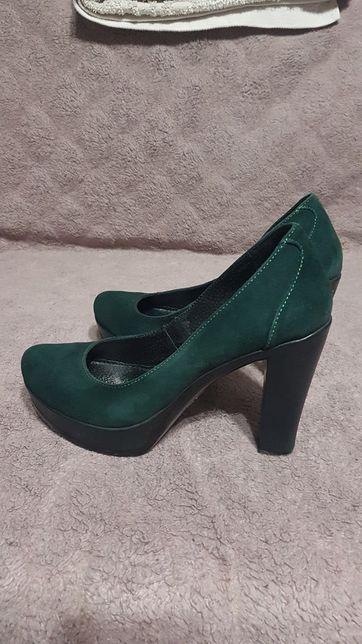 Туфли итальянские замшевые
