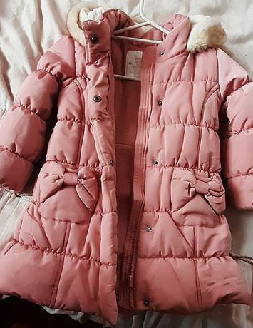 Długa zimowa kurtka rozmiar 2-3 latka