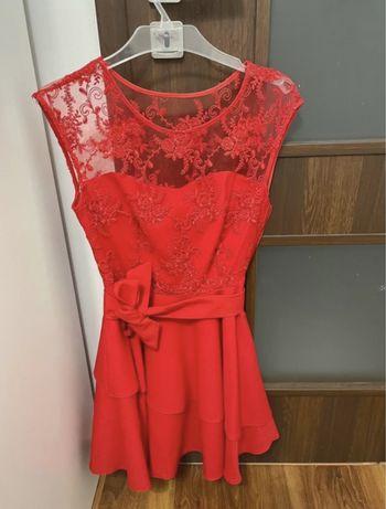 Czerwona sukienka XS/S