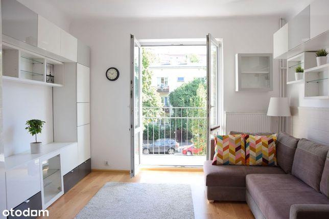 Kawalerka 30 m2, Saska Kępa, Balkon, I piętro,