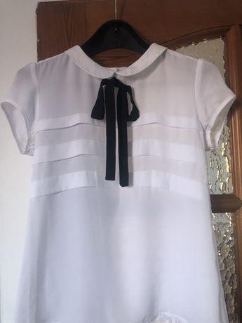 Biała koszula z krótkim rękawkiem