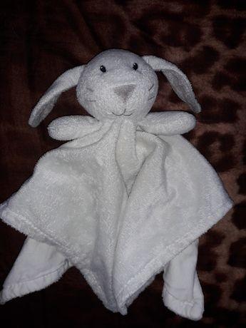 Przytulanka królik biały