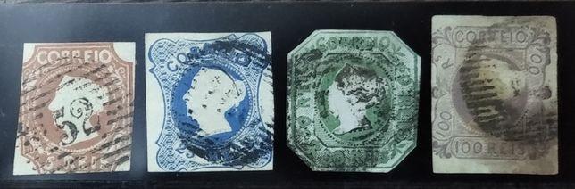 Série completa de selos D. Maria II 1853