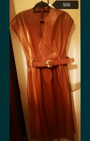 Vestido em pele Imperial