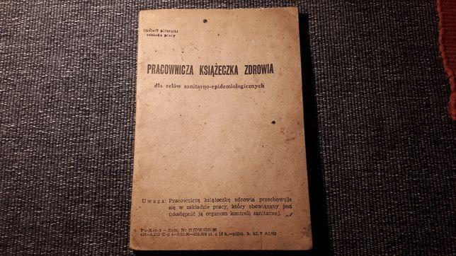 PRL rok 1963 Pracownicza Książeczka Zdrowia Galeria Sztuki A.Sz