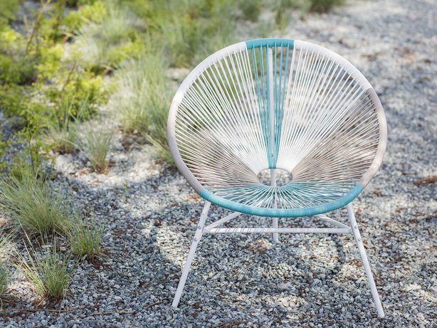 Cadeira de jardim em rattan sintético multicolor azul ACAPULCO - Beliani