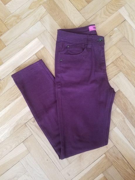 Fioletowe bordowe śliwkowe spodnie dżinsy jeansy elastyczne vintage