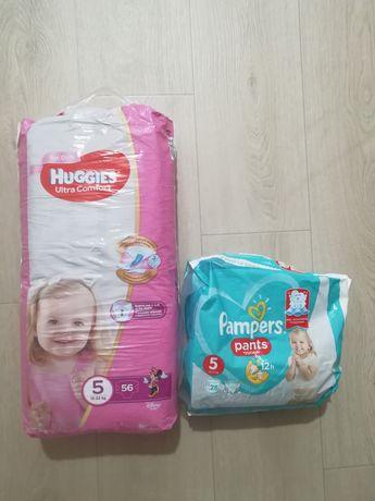 Подгузники, памперсы Huggies ultra comfort 5 для девочки 56 штук