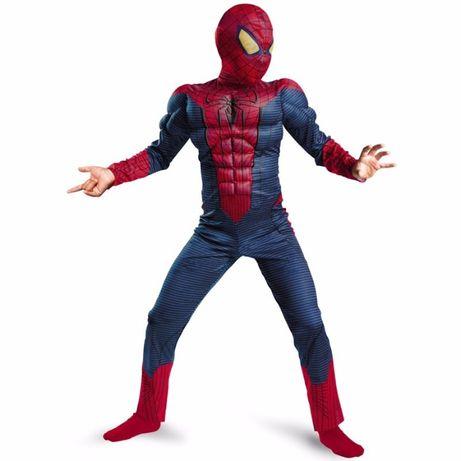 Костюм Спайдермена с мускулами,ростовка 4-8лет,новый, + 2 маски !!!