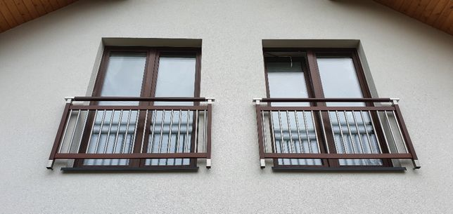 Balkon francuski portfenetr rzygownik Modern montaż aluminium wysyłka