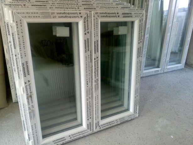 Okno pcv nowe wys 120 szer 120 dwuskrzydłowe . TANIO !!