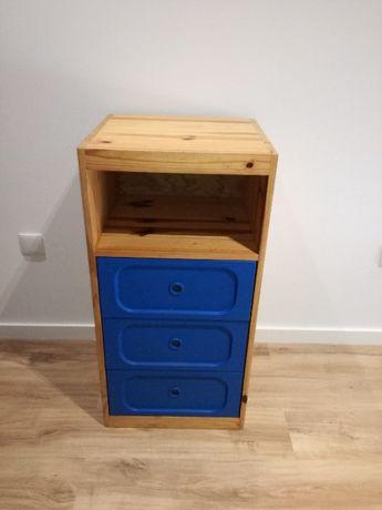 Movel estante aparador consola em madeira maciça com 3 gavetas incluíd