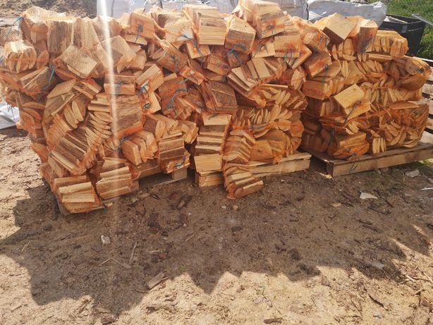 Opał rozpałka drewno kominkowe workowane