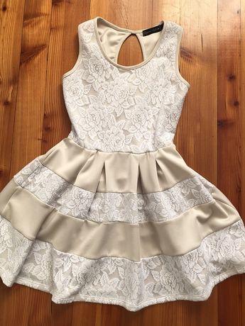 Sukienka mini koronkowa, rozmiar 36/S wesele