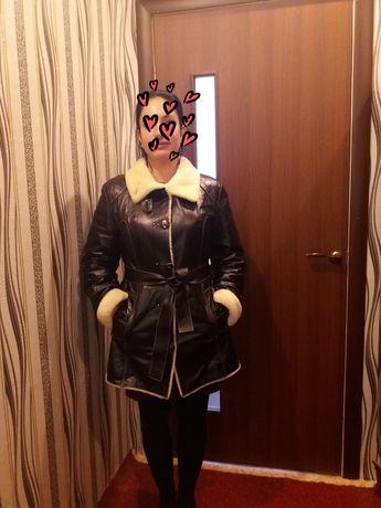 Куртка зима кожа мех