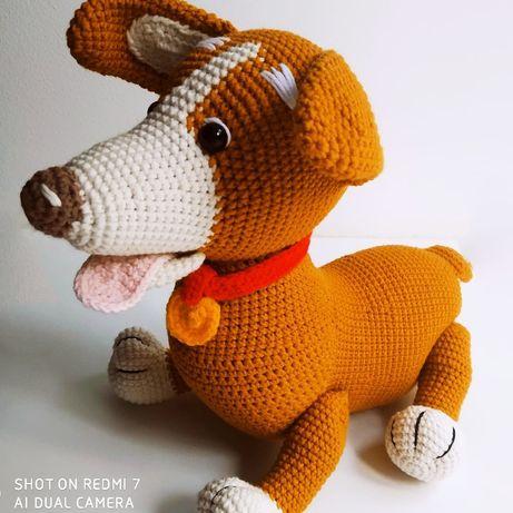 Собачка игрушка вязаная хендмейд