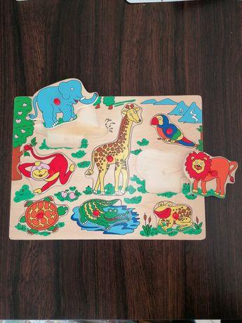 Zestaw Puzzle, magiczny długopis,  układanki 2+