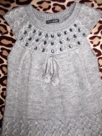 Продам женское теплое вязанное платье,сарафан