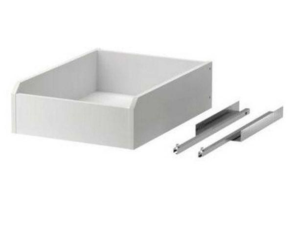 Szuflado-półka biała do montażu 2 sztuki
