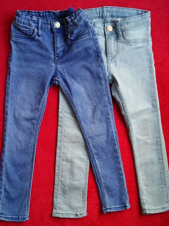 Jeansy dżinsy H&M skinny slim 104 paka przedszkolaka przedszkola