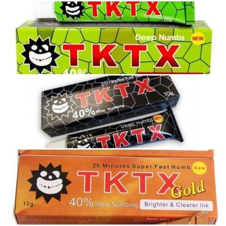Pomada TKTX 40% black/green/gold anestésico para tatuagem