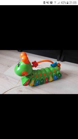 Gąsienica pianinko zabawka interaktywna dla dzieci grająca
