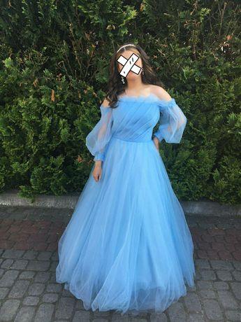 Плаття випускне блакитне