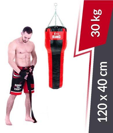 NOWY worek bokserski treningowy hakowy 120x35cm 30kg FIRMY RING