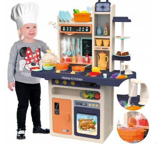Детская Кухня для детей Home Kitchen + 65 эл. (пар, свет), Наложка