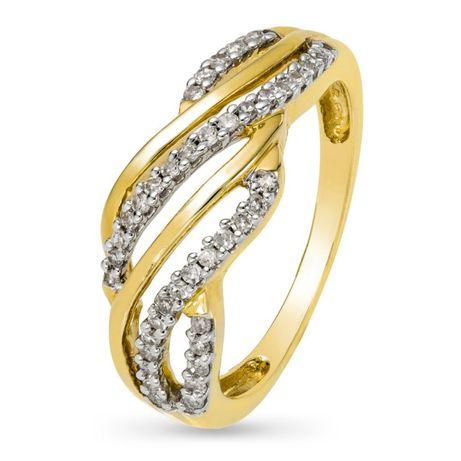 Złoty pierścionek z diamentami próba 585 certyfikat NOWY