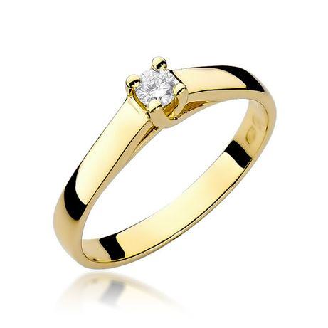 -20% Złoty pierścionek 585 z brylantem 0,100ct - Goldrun Chorzów