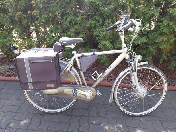 Rower elektryczny holenderski Gazelle Orange innergy