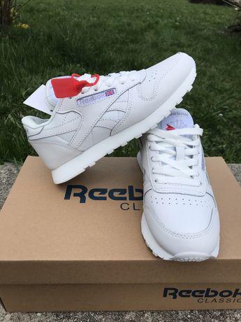 Кроссовки белые  Reebok Classic Leather Кожаные 38,40