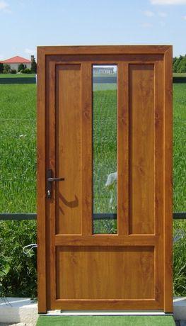 Drzwi zewnętrzne do domu Salamander bluEvolution 73mm od AGO M43+