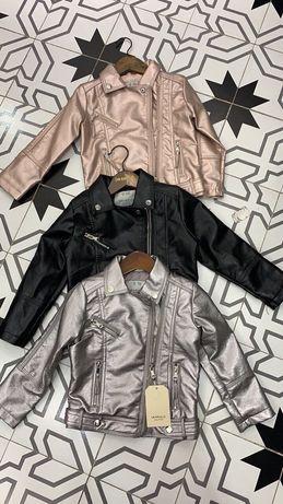 Детская косуха для девочки. кожаная куртка. От 3-х до 12-ти лет