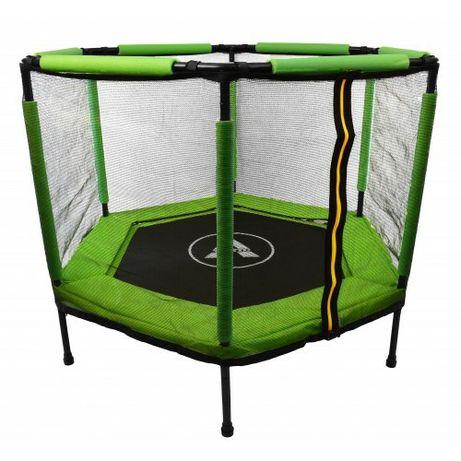 Батут-манеж, діаметр 140см, колір зелений
