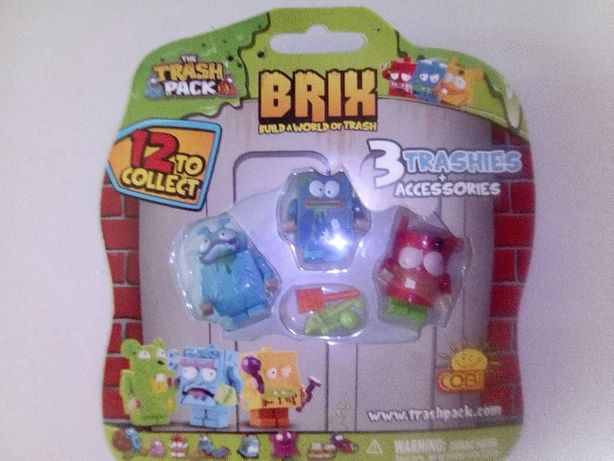 Trash pack 3 figurki Cobi