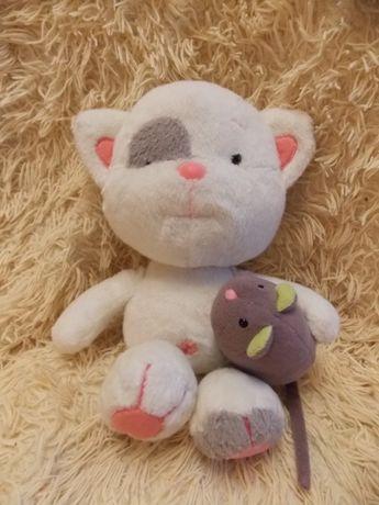 Мягкая игрушка Котёнок с мышкой ТМ Левеня