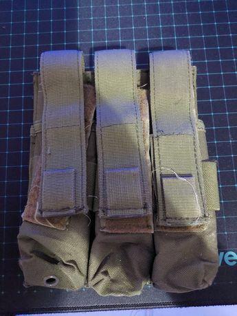 2 Bolsas para 3 carregadores mp5 airsoft