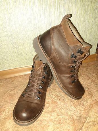Ботинки, туфли, броги, зима, кожа