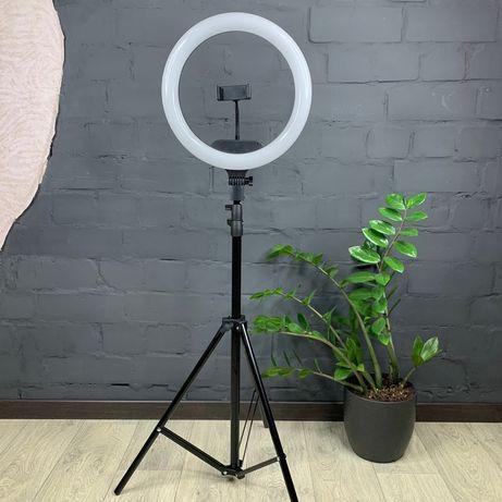 Кольцевая лампа 33 см + штатив 2.1 метра