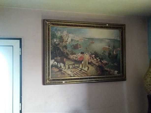 Vendo este quadro antigo pintado à mão
