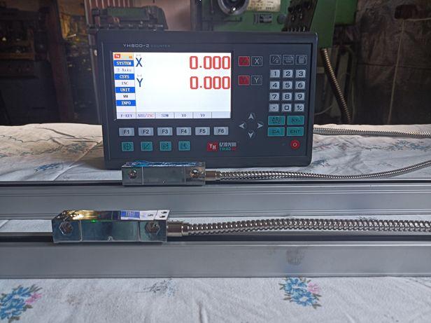Odczyt cyfrowy LCD oraz liniały - do tokarki lub frezarki