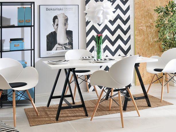 Krzesło swan białe drewno buk