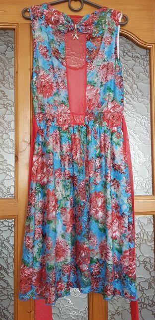 Літнє плаття з принтом