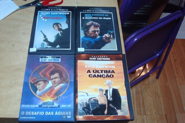 Coleção Clint Eastwood 10 filmes originais,imperdoavel,dirty harry etc